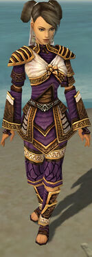 Monk Elite Canthan Armor F dyed front