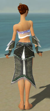 Elementalist Elite Luxon Armor F gray arms legs back