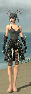 Necromancer Elite Canthan Armor F gray arms legs front