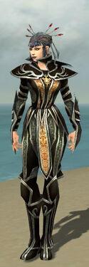 Necromancer Elite Sunspear Armor F gray front