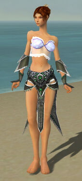 Elementalist Elite Luxon Armor F gray arms legs front