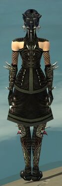 Necromancer Canthan Armor F gray back