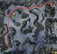 Anvil Rock to Ice Caves to Deldrimor Bowl