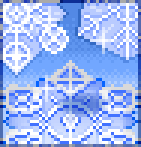 Background sparkling snowflake