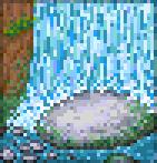 Background waterfall rock