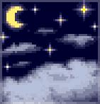Background midnight clouds