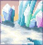 Background shimmering ice prism