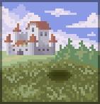 Background distant castle