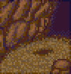Background meandering cave