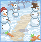 Background snowman army