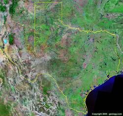 Texas-satellite-image