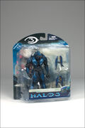 Blue elite action figure