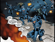 Thorne and the other Fireteams boarding the Pilgrim's Pride