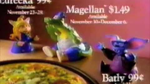 """Pizza Hut - """"Eureeka's Castle"""" puppets commercial - 1990"""