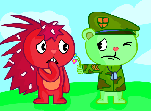happy tree friends flippy and flaky relationship questions