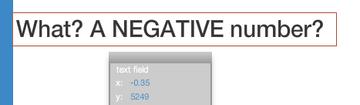 Negative x-coordinate