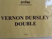 Uncle Vernons Double Dressing Room sign. Chris Wilson