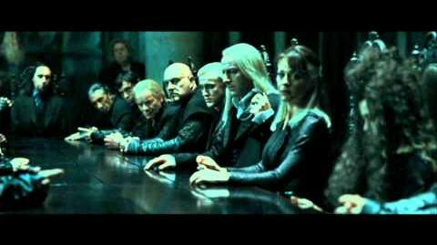 Harry Potter and the Deathly Hallows part 1 - the Death Eaters at Malfoy Manor part 1 (HD)