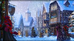 Pottermore background hogsmeade at christmas