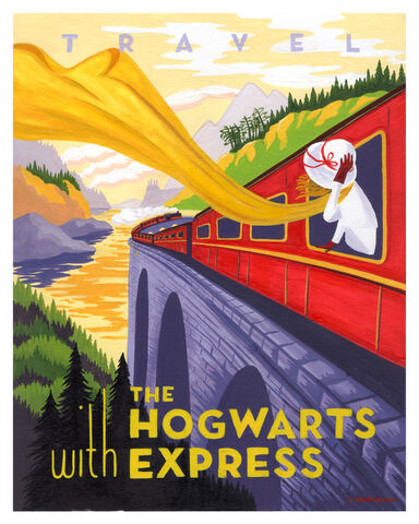 File:Travel Hogwarts Express painting1 40 Beautiful Harry Potter Art and Illustration Tributes.jpeg