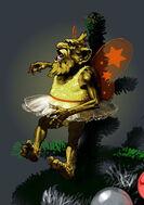 Gnome Christmas tree concept art 1