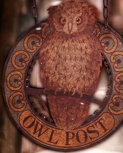 Owl Post Sign