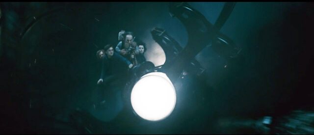 File:DH2 Harry Potter and friends riding at Gringotts Cart.jpg