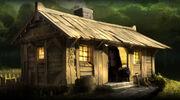 Hagrid's cabin