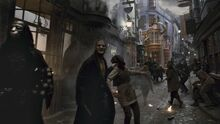 Death Eaters at Diagon Alley HBP