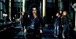 Bellatrix at malfoy manor