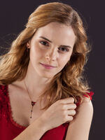 DH Hermione in her red dress