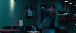 DH - Harry Potter battling inside the Cafe muggle restaurant