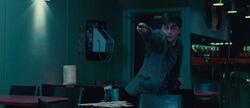 DH - Harry Potter battling inside the Cafe muggle restaurant