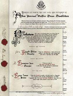 Dumbledore'sWill