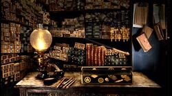 Wands display at Ollivander's Shop (1991)