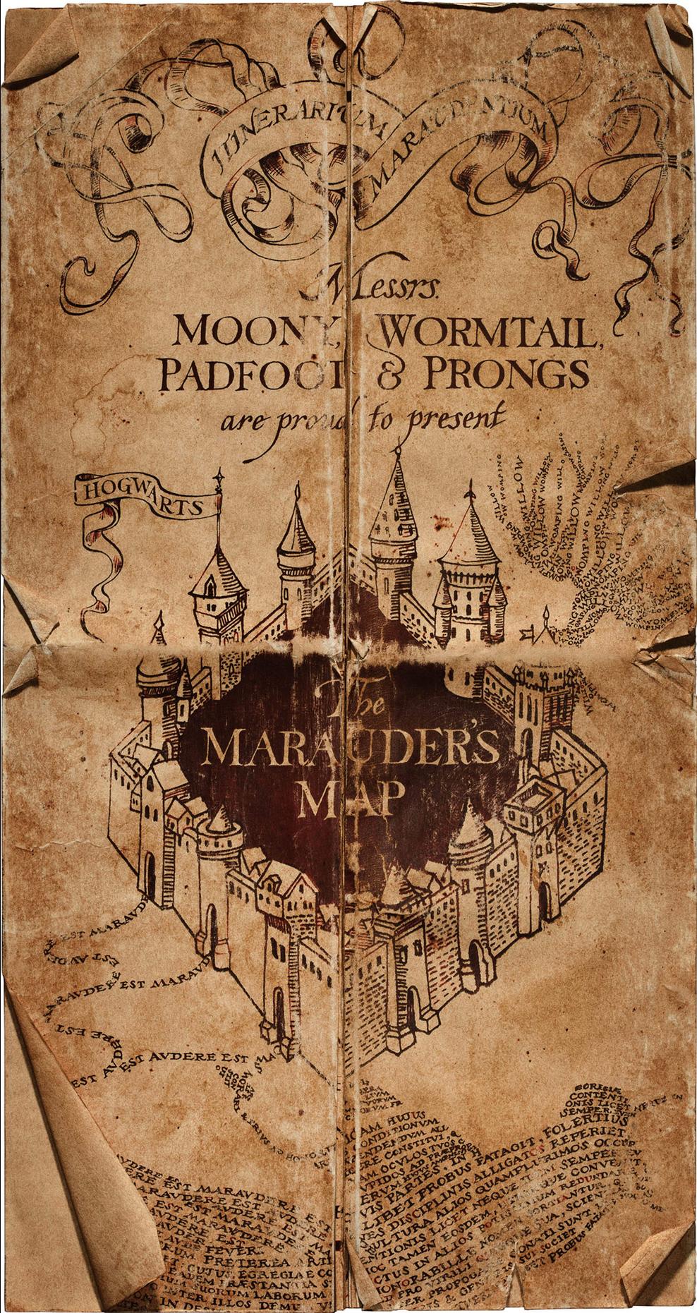 Marauders Map Harry Potter Wiki Fandom Powered By Wikia