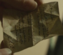 Regulus Black's letter to Lord Voldemort