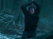 Ron destroying the Horcrux