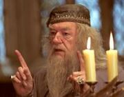 Dumbledore discussing the events to come shortly after Cedric Diggory's death