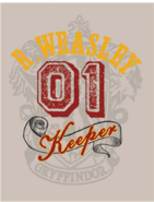 R. Weasley 01 Keeper Quidditch™ Poster - Harry Potter and the Half-Blood Prince™