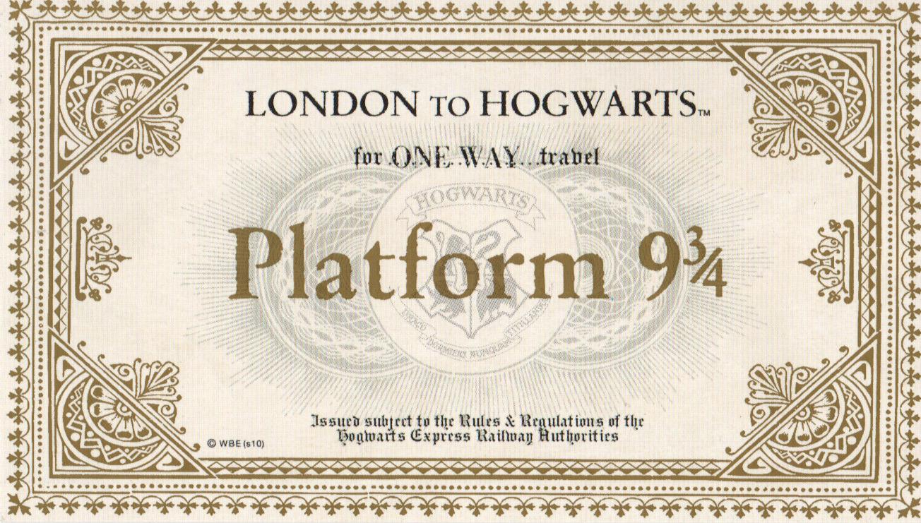 Image result for hogwarts tickets