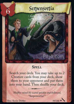 Serpensortia (Harry Potter Trading Card)