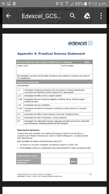 GCSEBiology practicals