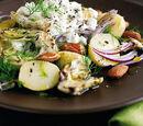 Potato, Smoked Almond and Artichoke BBQ Salad