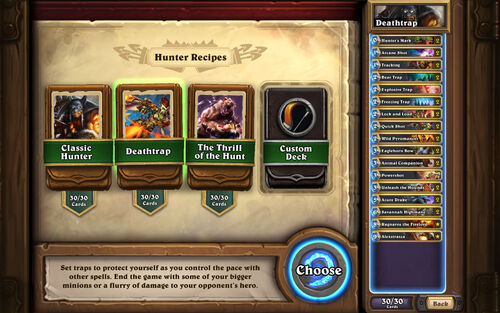 Deck Recipes - Hunter