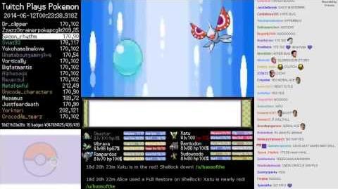 Twitch Plays Pokémon (HeartGold) - Final Battle Vs. Alice