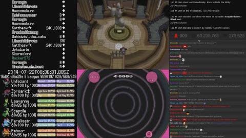 TwitchPlaysPokemon - ( Pokemon Black 2 ) E4 Teh Urn ( Chat Included )