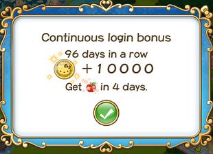 Login bonus day 96
