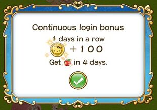 Login Bonus Day 1