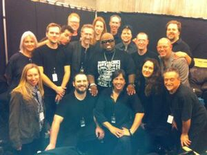 Cast backstage at Grammys 2010